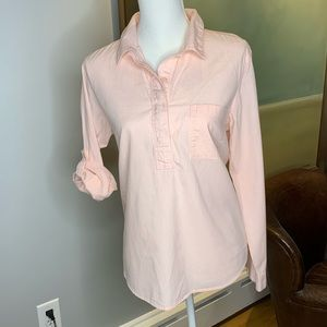 Popover Light Coral Casual Blouse